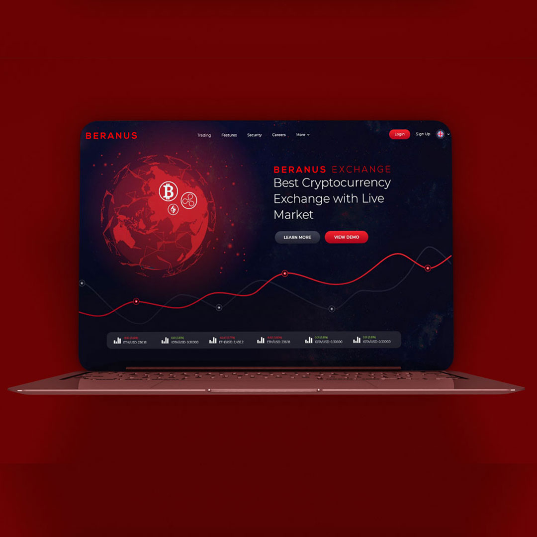 digital exchange website design